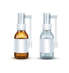 Blank Glass Medical Spray Bottle Isolated vector image
