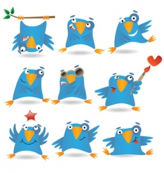 blue birds vector image