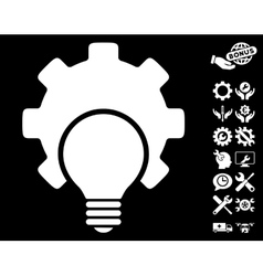 Bulb Configuration Gear Icon with Tools vector