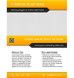Business multipurpose flyer template - yellow vector image