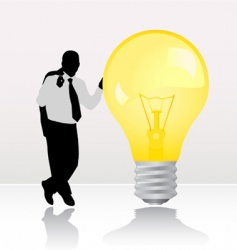 businessman with light bulb vector image vector image
