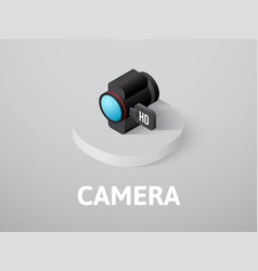 camera isometric icon isolated on color vector image