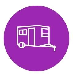 Caravan line icon vector
