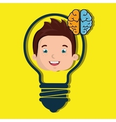 child student idea icon vector image