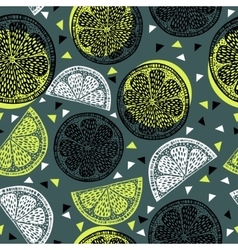 Citrus pattern graphics vector image