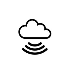 cloud wifi flat icon vector image