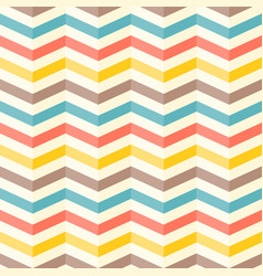 colourful 3d chevron seamless pattern background vector image