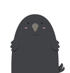 cute big fat crow vector image