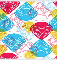 Diamond symbol seamless vector