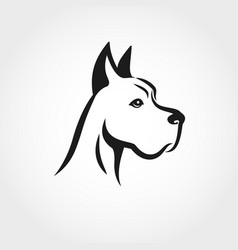 dog head line drawing can be used as logo vector image vector image