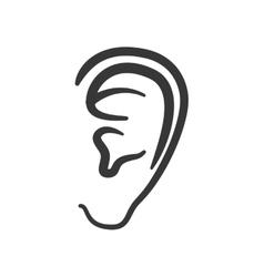ear human listen sound body part icon vector image