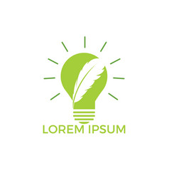 feather bulb logo design vector image
