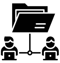 File sharing telecommuting or remote work icon vector