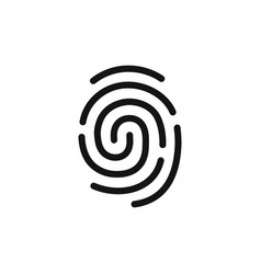 fingerprint simple black icon authentication vector image