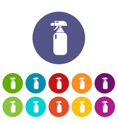 fire extinguisher icons set color vector image