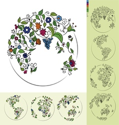 Flower Earth vector image