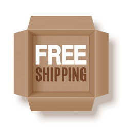free shipping box vector image
