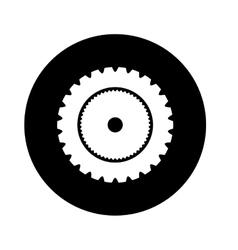 gear wheel isolated icon design vector image vector image