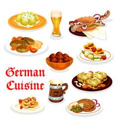 German cuisine dinner icon with oktoberfest vector