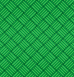 Green abstract geometric square seamless pattern vector