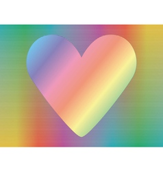 Hologram with valentine vector