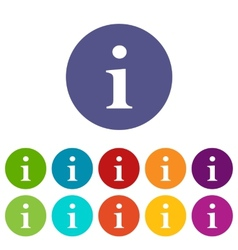 Info flat icon vector
