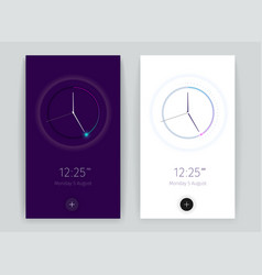 interface countdown application banners set vector image