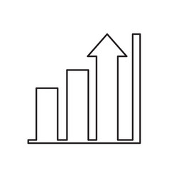 isolated business graph icon vector image