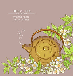 Jasmine tea background vector