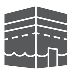 Kaaba in mecca glyph icon ramadan and religion vector