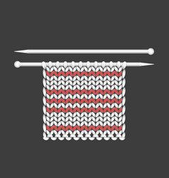 Knitting the process of knitting texture loops vector
