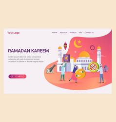 Landing page ramadan kareem design concept vector