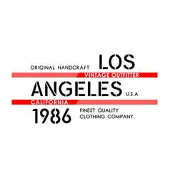 Los angeles typography design vector