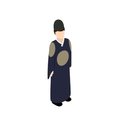 Male korean icon isometric 3d style vector