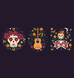 mexican collection compositions in mood vector image