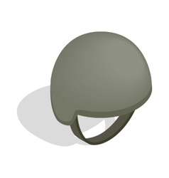 Military helmet icon isometric 3d style vector
