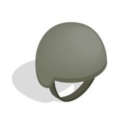 Military helmet icon isometric 3d style vector image