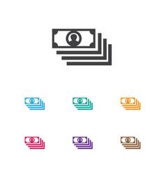 Of excitement symbol on cash vector
