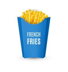 Packaging for french fries vector