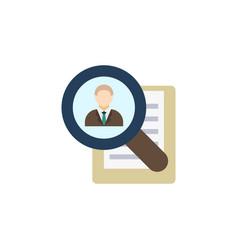 Permanent recruitment creative icon flat vector
