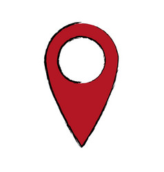 Pointer map location navigation gps icon vector