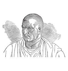 publius cornelius scipio vintage vector image