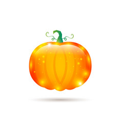 Pumpkin glossy label vector
