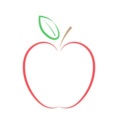 Red apple on a white background vector image