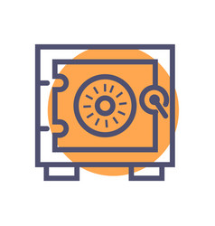 safe icon safe icon for website or mobile apps vector image