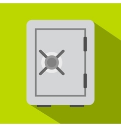 Safety deposit box icon flat style vector