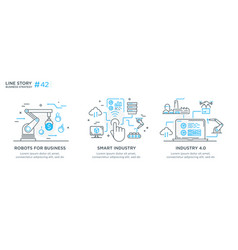 set concept with businessmen vector image