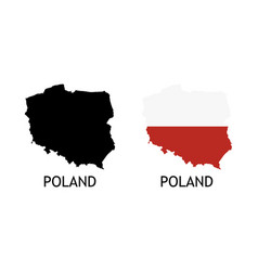 Silhouette poland on white color vector