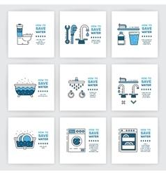 simbol saving water vector image