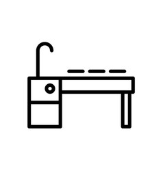 sink kitchen icon vector image